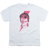 David Bowie Aladdin Sane S/S Youth 18/1 T-Shirt White