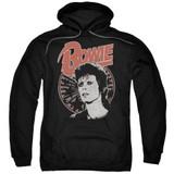 David Bowie Space Oddity Adult Pullover Hoodie Sweatshirt Black