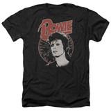 David Bowie Space Oddity Adult Heather Black T-Shirt