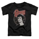 David Bowie Space Oddity S/S Toddler T-Shirt Black