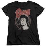 David Bowie Space Oddity S/S Women's T-Shirt Black