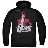 David Bowie Diamond David Adult Pullover Hoodie Sweatshirt Black