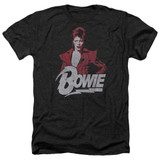 David Bowie Diamond David Adult Heather Black T-Shirt
