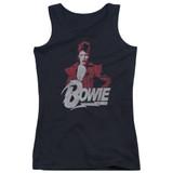David Bowie Diamond David Junior Women's Tank Top Black