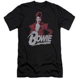 David Bowie Diamond David Hbo S/S Adult 30/1 T-Shirt Black