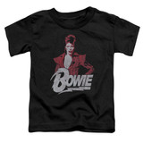 David Bowie Diamond David S/S Toddler T-Shirt Black