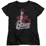 David Bowie Diamond David S/S Women's T-Shirt Black