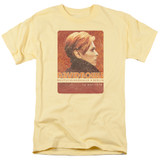 David Bowie Stage Tour Berlin 78 S/S Adult 18/1 T-Shirt Banana