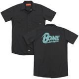 David Bowie Logo (Back Print) Adult Work Shirt