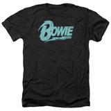 David Bowie Logo Adult Heather Black T-Shirt