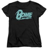 David Bowie Logo S/S Women's T-Shirt Black