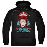 David Bowie Ziggy Heads Adult Pullover Hoodie Sweatshirt Black