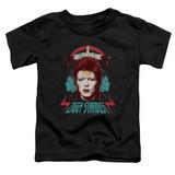 David Bowie Ziggy Heads S/S Toddler T-Shirt Black