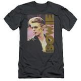 David Bowie Smokin S/S Adult 30/1 T-Shirt Charcoal