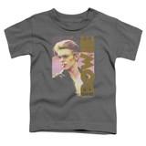 David Bowie Smokin S/S Toddler T-Shirt Charcoal