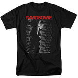 David Bowie Station To Station S/S Adult 18/1 T-Shirt Black