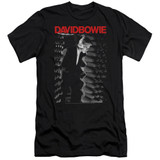 David Bowie Station To Station S/S Adult 30/1 T-Shirt Black