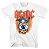 AC/DC Vintage Fly On Wall White Adult T-Shirt