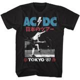 AC/DC Tokyo '81 Black Adult T-Shirt