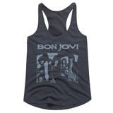 Bon Jovi Blue Jovi Navy Heather Junior Women's Racerback Tank Top T-Shirt