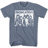 Bon Jovi Big Bon Jovi Indigo Heather Adult T-Shirt