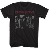 Bon Jovi Retro Jovi Black Adult T-Shirt