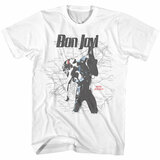 Bon Jovi Jersey Map White Adult T-Shirt