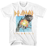 Def Leppard Faded Pyromania White Adult T-Shirt
