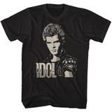 Billy Idol 2 Tone Billy Black Adult T-Shirt