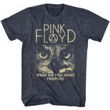 Pink Floyd WDYWFM? Navy Heather Adult T-Shirt