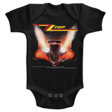 ZZ Top Eliminator Cover Black Baby Onesie T-Shirt