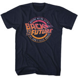 Back To The Future Logo And Quote Navy Adult T-Shirt