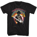 Jimi Hendrix Jimi Hendrix Black Adult T-Shirt