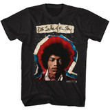 Jimi Hendrix Both Sides Black Adult T-Shirt