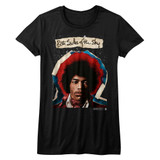 Jimi Hendrix Both Sides Black Junior Women's T-Shirt