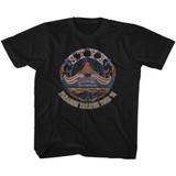Styx Tour '81 Black Youth T-Shirt