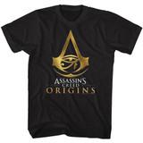 Assassin's Creed Origins Logo Black Adult T-Shirt