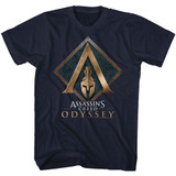 Assassin's Creed AC Odyssey Navy Adult T-Shirt