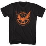 The Division Agent Shield Black Adult T-Shirt