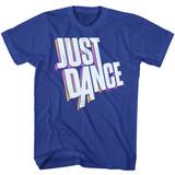 Just Dance Dimensional Logo Royal Adult T-Shirt