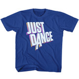 Just Dance Dimensional Logo Royal Youth T-Shirt