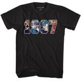 Mega Man 1987 Black Adult T-Shirt