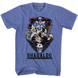 Street Fighter Shadaloo Organization Royal Heather Adult T-Shirt