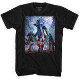 Devil May Cry Three Dudes Black Adult T-Shirt