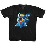 Mega Man X And Zero Black Youth T-Shirt