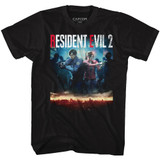 Resident Evil RE2 Make Cover Black Adult T-Shirt