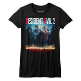 Resident Evil RE2 Make Cover Black Junior Women's T-Shirt