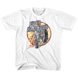 Evel Knievel Checks And Flames White Youth T-Shirt