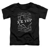 ZZ Top Barbed S/S Toddler T-Shirt Black