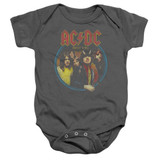 AC/DC Highway To Hell Baby Onesie T-Shirt Charcoal